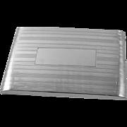 Vintage Art Deco signed Felmore sterling silver cigarette case / smoking / tobacciana / 3.7oz / business card case