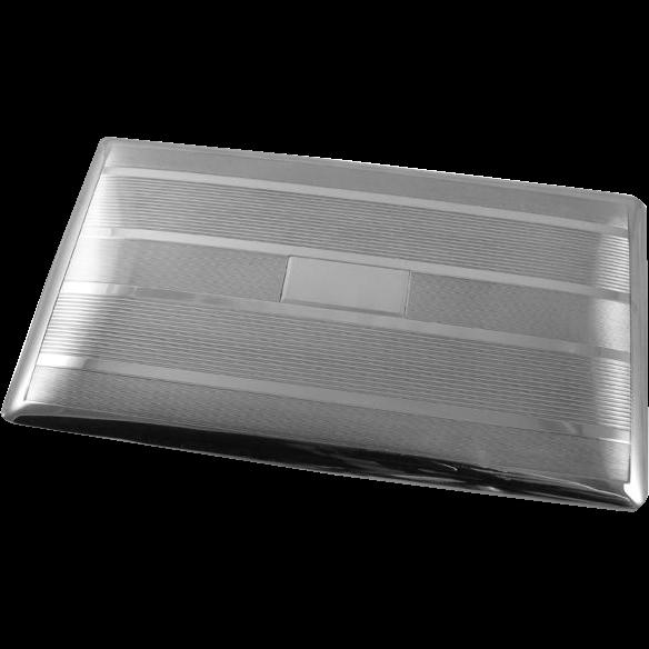 Vintage Art Deco signed Watrous sterling silver cigarette case / smoking / tobacciana / 4.7 ounce / business card case