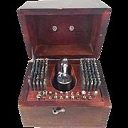 "7"" tall Vintage K & D Kendrick and Davis staking set in wood box / watchmaker / watch repair / pocket watch / wrist watch"