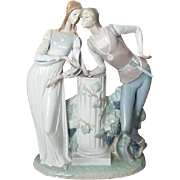 Vintage Lladro porcelain glazed figurine Romeo and Juliet, Spain, Spanish, home decor, figural, ceramic, lovers, Lladro figurine, MINT