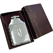 Cigarette case lighter Ronson chrome vintage Art Deco M63 C&E unused, new old stock, nos, tobacciana, smoking, collectibles, man cave