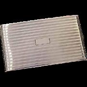 6.1 ounce Vintage Art Deco signed Napier sterling silver cigarette case, tobacciana, smoking, business card case