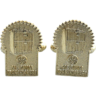 Vintage GENERAL ELECTRIC Medium Transformers Cufflinks