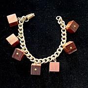 Fab Vintage Dangling Wood Block Bracelet