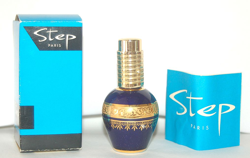 STEP Paris Limoges Cobalt Blue Perfume Atomizer, MIB, Paperwork Included