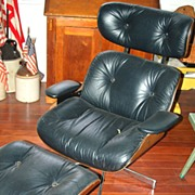 Mid Century Modern SELIG Eames Era Lounge Chair With Ottoman
