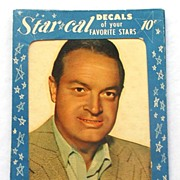1952 STAR CAL Decals, Original Packaging!Bob Hope, Rarest of the Rare