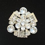 Vintage Signed EISENBERG Brilliant Rhinestone Pin