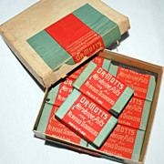 1901 Dr. Mott's NERVERINE PILLS, Unopened, 8 Packs, Original Store Display Box
