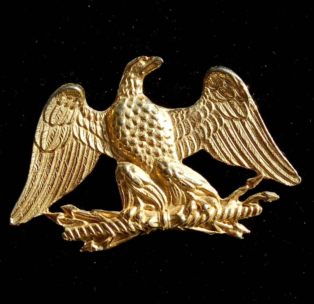 Vintage Signed ACCESSOCRAFT NY Gold Toned Eagle Pin