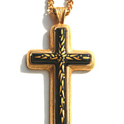 Vintage Signed SARAH COVENTRY 1978 Limited Edition Cross Necklace