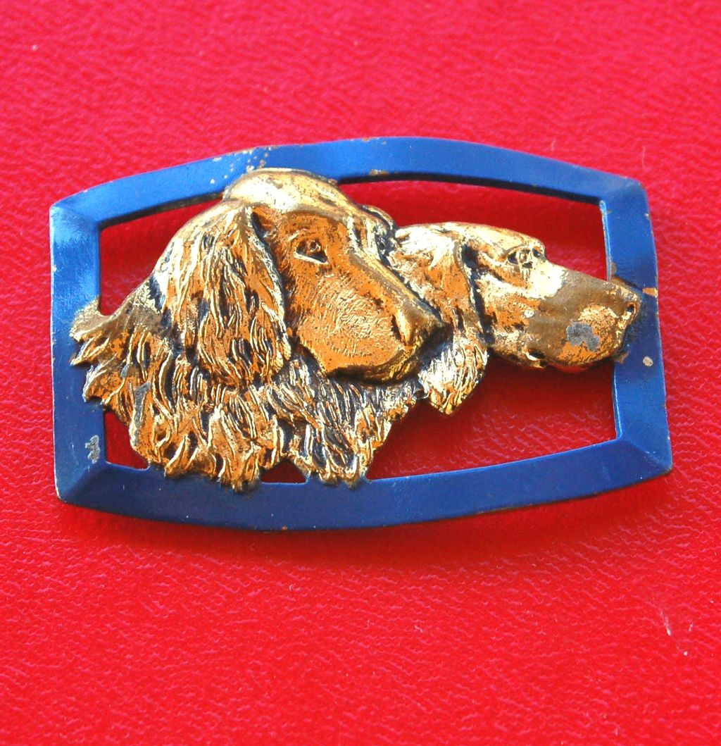 Early Enameled Retriever Dogs Pin