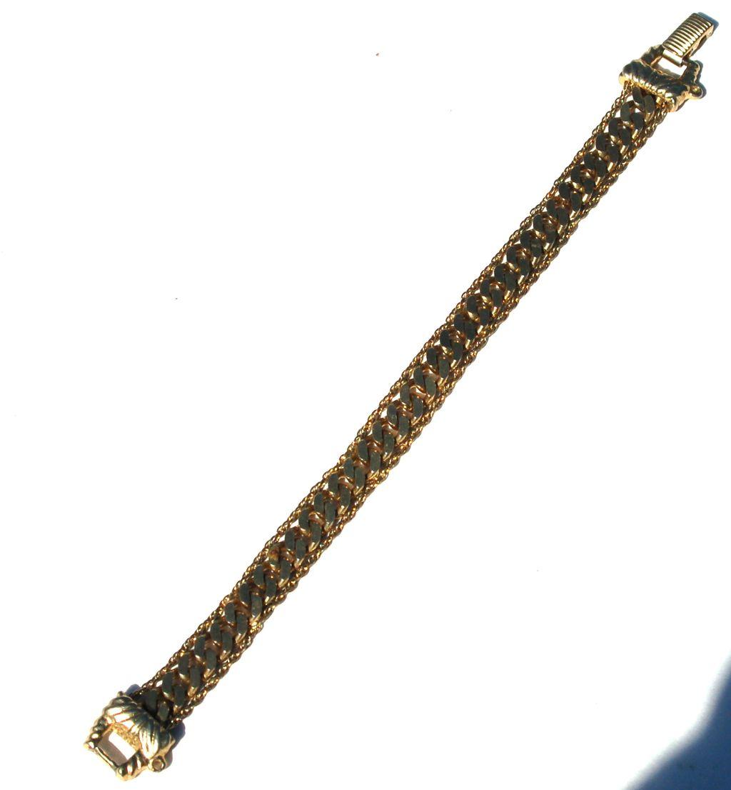 Vintage Signed GOLDETTE Curb Chain and Standard Chain Bracelet