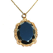Early Vintage 12K Yellow Gold Filled Necklace Pendant and Chain