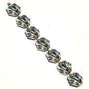 Dimensional Silver Plate Nouveau Bracelet