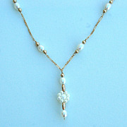 Vintage 14K GOLD FILLED Pearl Necklace