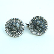 Vintage Danish Modern Signed POUL WARMIND Pewter Orig Label Mens Cufflinks Cuff Links