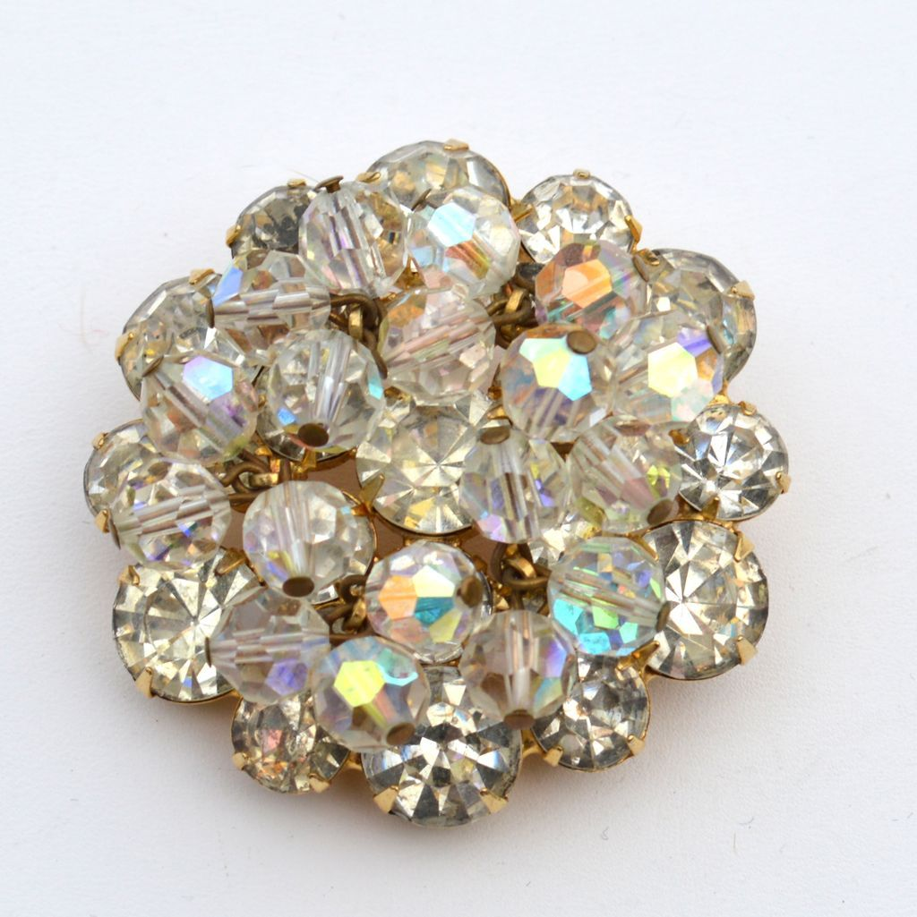 Vintage JULIANA (DeLizza and Elster) Rhinestone Crystal Drippy Pin