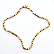 Hallmarked 925 Goldwash Over Sterling Necklace, 31.1 Grams