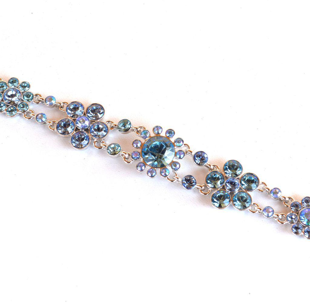 Vintage Signed GIVENCHY Baby Blue Rhinestone Necklace