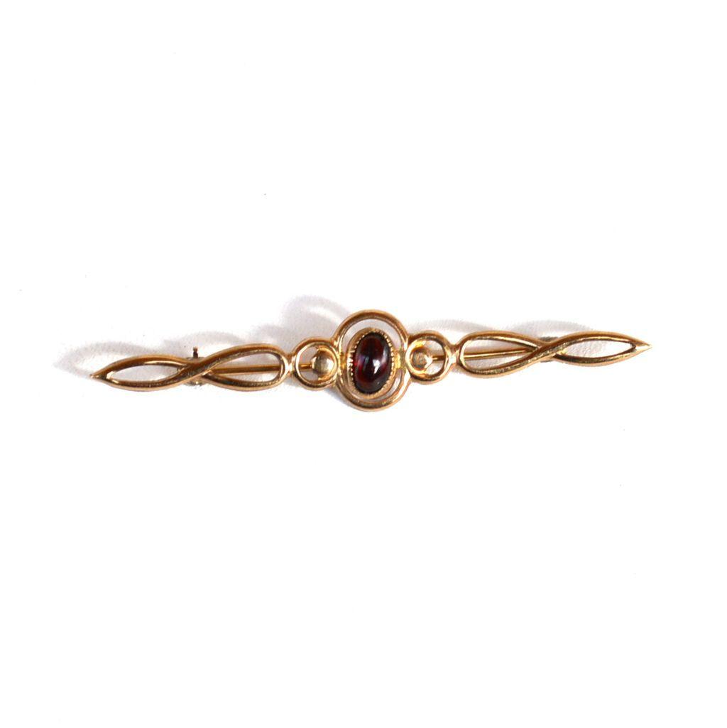 Vintage Hallmarked 14K Gold Filled Genuine Amber Pin