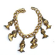 Vintage BLACKAMOOR Dangling Chunky Charm Bracelet