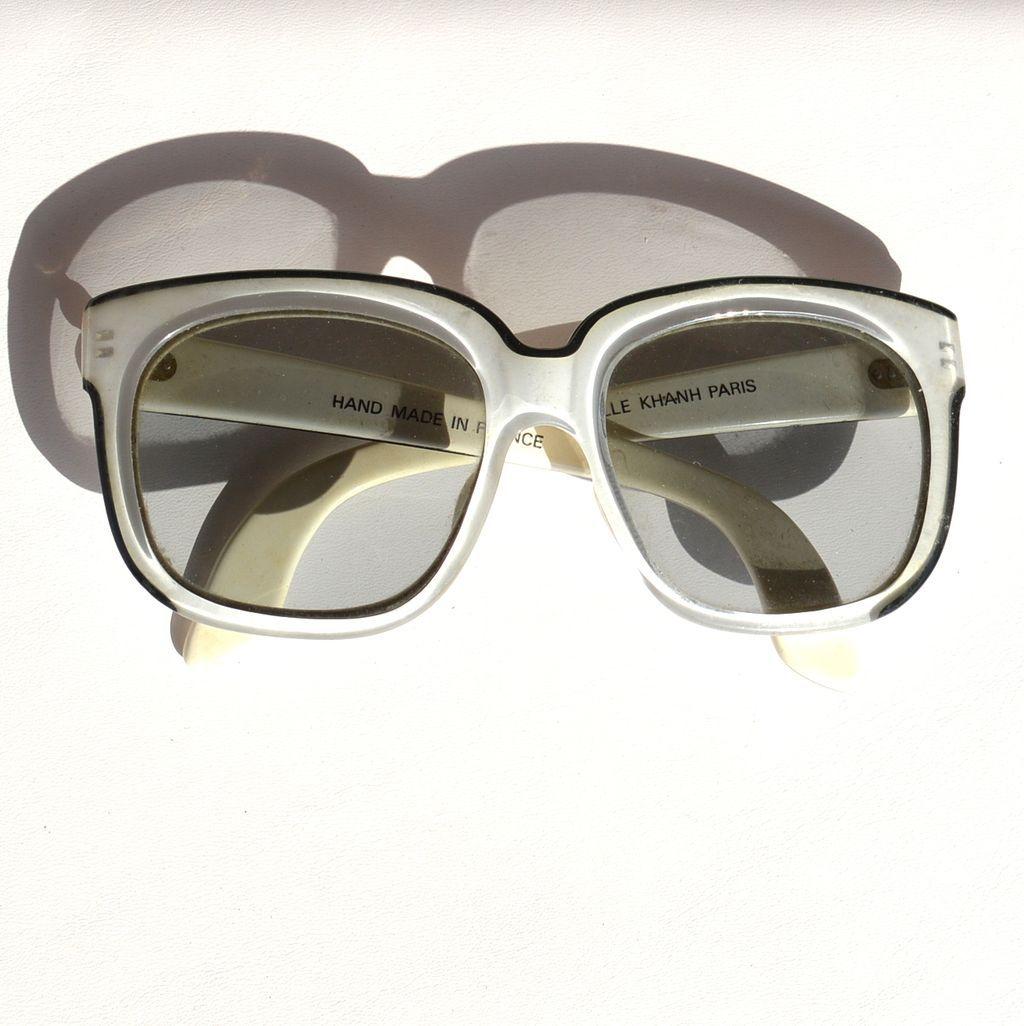 Vintage Designer Oversized EMMANUELLE KHAHN Sunglasses, Paris France