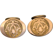 Victorian Era Gold Filled Cuff Links