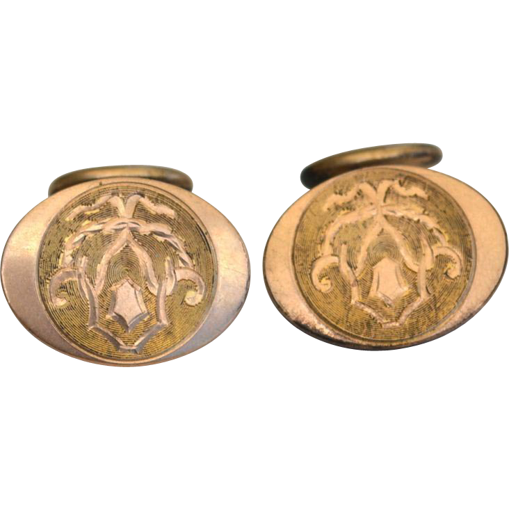 Victorian Era Gold Filled Cuff Links