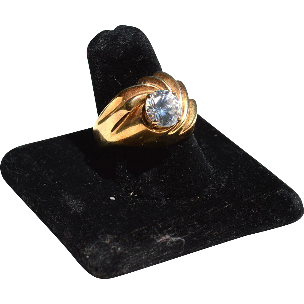 Huge Hallmarked STERLING SILVER Ring With Enormous Stone