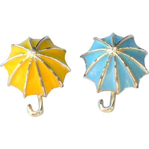 Vintage Enameled Scatter Pins UMBRELLAS