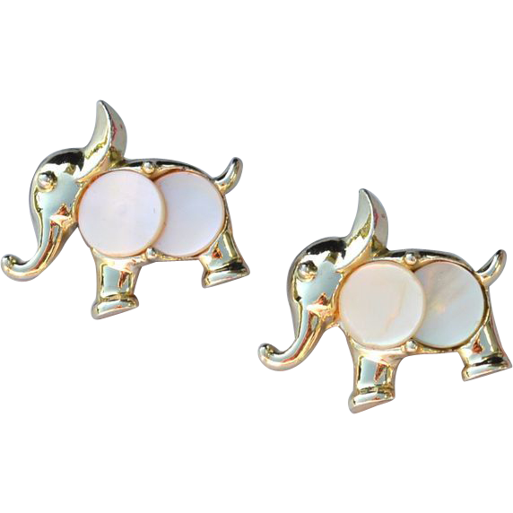 Vintage Mother Of Pearl Scatter Pins ELEPHANT