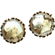 Vintage Signed MIRIAM HASKELL Faux Baroque Button Pearl Earrings