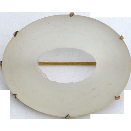 Victorian Era Gold Filled Camphor Glass Pin