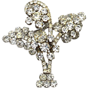 Vintage JULIANA (DeLizza and Elster) Clear Rhinestone Pin