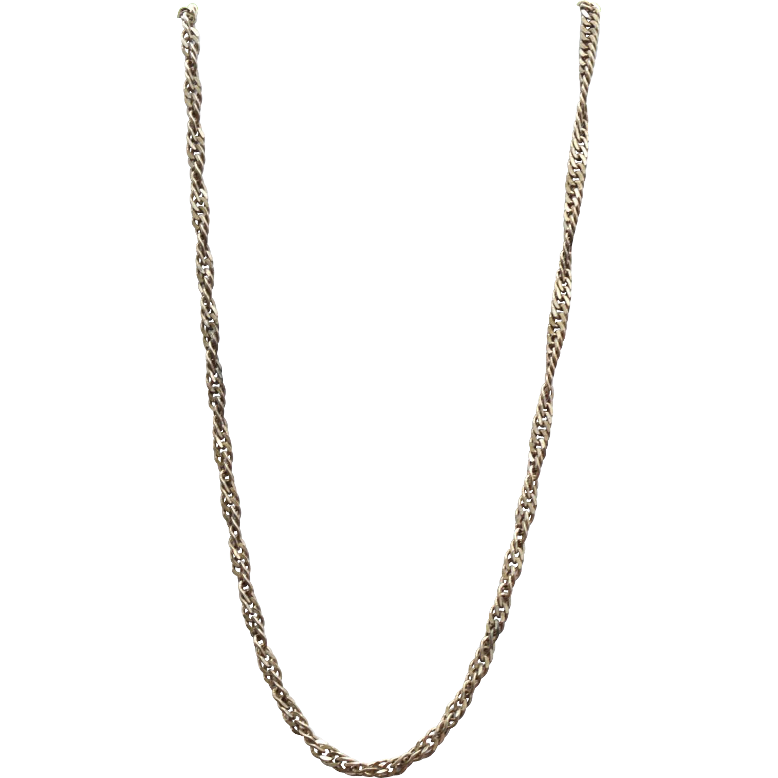 Super Long Twisted Vintage Hallmarked STERLING SILVER Milor Italy Necklace, 40 Grams