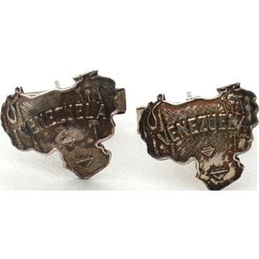 Vintage Hallmarked Sterling Silver VENEZUELA Cuff Links Cufflinks
