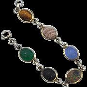 Vintage Hallmarked 12K Gold Filled Scarab Bracelet