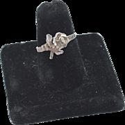 Vintage Hallmarked 14K Gold Flower Ring
