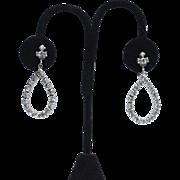 Vintage Signed WEISS Brilliant Rhinestone Drop Earrings