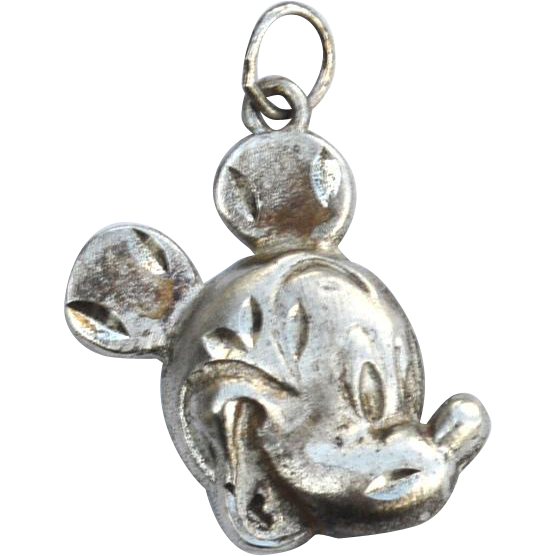Vintage Signed Sterling Silver DISNEY Mickey Mouse Charm