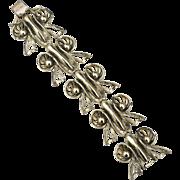Vintage Signed SELINI Super Chunky Extra Wide Bracelet