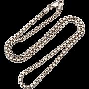 Heavy Hallmarked STERLING SILVER Italy Briolette Chain