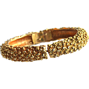 Vintage Signed CADORO Gold Toned Textured Bracelet