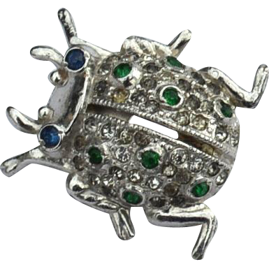 Early 1940's Signed CORO Beetle Perfuming Pin