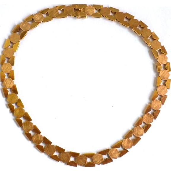 Vintage Hallmarked 1958-1968 Danish Modern 14K Solid Gold Necklace, 34+ Grams, E Sorensen Hellerup