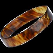 Early Faux Tortoise Shell Wrap Bracelet