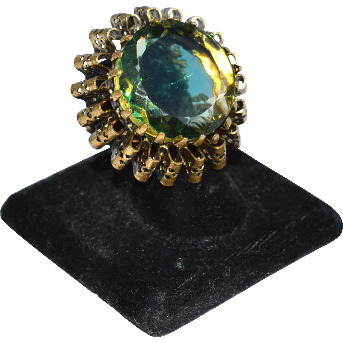 Huge Oversized Watermelon Stone Ring, ENORMOUS!