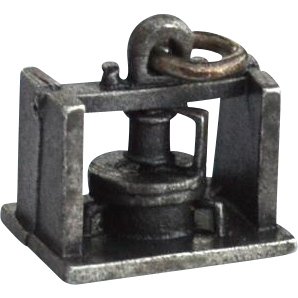 Vintage Hallmarked STERLING SILVER Machine Press Charm