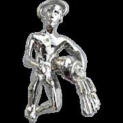Vintage STERLING SILVER Aquarius Zodiac Charm